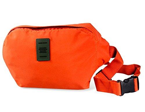 Fashionable Outdoor Sport Waist Bag Shoulder Bag Anti-theft Close-fitting Waist Bag (Orange)