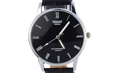 Generic Classic Black Roman Number Mens Quartz Watch