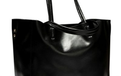 Moon Soul Women Simple Style Shopping Bag Handbag Tote Black