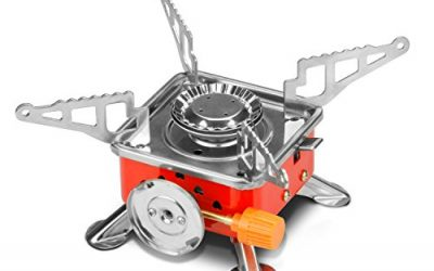 Etekcity E-gear Portable Collapsible Outdoor Backpacking Camping Stove Butane Propane Burner for Gas Canisters with CP/P220/DOT2P type valves