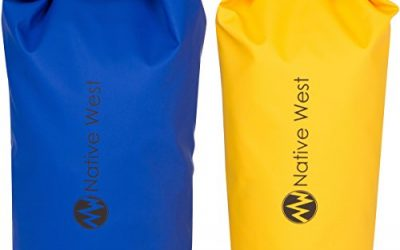 Dry Bag (2 Pack) With Shoulder Strap. Waterproof Floating Dry Gear Bags for Boating, Kayaking, Fishing, Rafting, Swimming, Camping, Hiking, Rafting, SUP, and Snowboarding. Dry Compression Sack with High Quality Roll Top Closure System.
