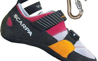 Scarpa Women's Force X Rock Climbing Shoe w/ BD Rocklock Carabiner Lipgloss w/ Carabiner – 38