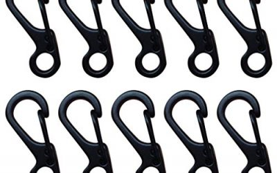 Euone 10PCS Mini Carabiner Keychain Mountaineering Spring Tactical Survival Equipment