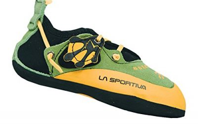 LA SPORTIVA Kids' Stickit Climbing Shoes, Green/Yellow 32