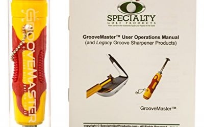 GrooveMaster Adjustable Golf Club Groove Sharpener with Comfortable Large Rubber Grip and 6 Cutter Carbide Tungsten Steel Head – With Printed Full Color User Operations Manual