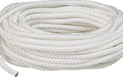 SeaSense Multi-Purpose Nylon Diamond Braid Cordage, 1/4-Inch X 100-Foot, White