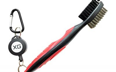 NEW! Golf Clubs Brush & Groove Cleaner, 2 Ft Clip Easily Attaches to Golf Bag