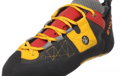 evolv Men's Demorto Rock Climbing Shoe,Gray/Orange,8.5 M US