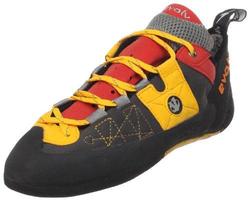 evolv Men's Demorto Rock Climbing Shoe,Gray/Orange,8.5 M US